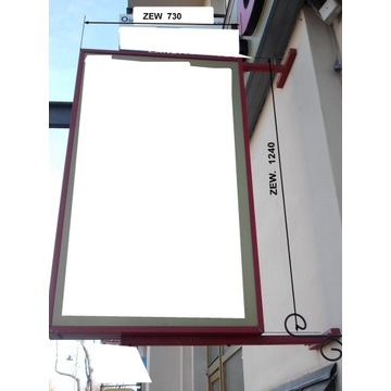 Kaseton reklamowy plafon dwustronny  730 x 1240 mm