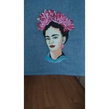 Frida. Eko torba ręcznie malowana. Handmade