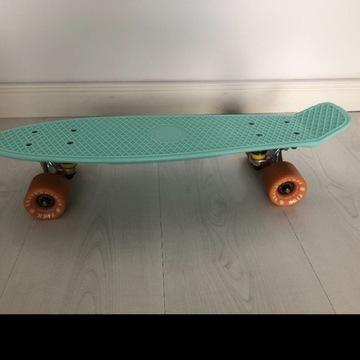 Deska fishskateboards miętowa polecam