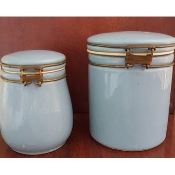 słój pojemnik kamionka klips szczelny ceramika