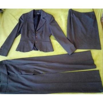 Komplet żakiet, spodnie i spódnica 36