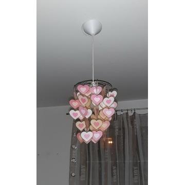 Lampa wisząca serduszka śliczna