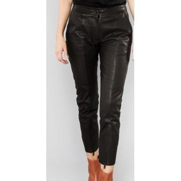 Spodnie skórzane, czarne firmy Norr- S