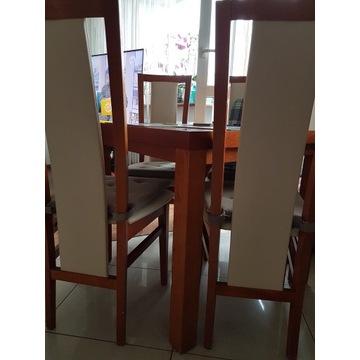 Stół z 4 krzesłami 80×80
