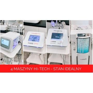 4 aparatury kosmetyczne - wodorowe, tlenowa