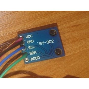 Czujnik natężenia oświetlenia BH1750 GY-302 I2C