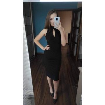 Czarna dopasowana sukienka S