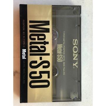 kaseta Sony Metal-S 50 NOWA, folia