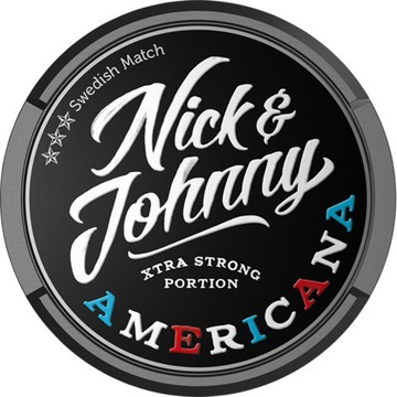 Nick Johnny AmericApudełka kolekcjonerskie od snus