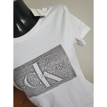 T-shirt Calvin Klein Jeans damski r.S ostatnia szt