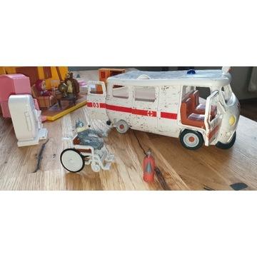 Masza i niedźwieź ambulans + domek