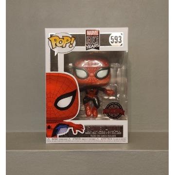 FUNKO POP Marvel Spider-Man 593 Metallic Exclusive
