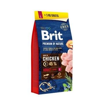 Karma dla psa Brit Premium By Nature 15kg