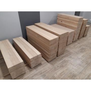 Schody stopnie trepy blaty parapety drewniane
