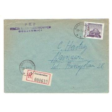 Gorzkowice (Piotrków T) - Koperty polecone 1969-72