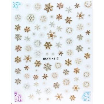 Naklejki na paznokcie Christmas / Święta HANYI 117