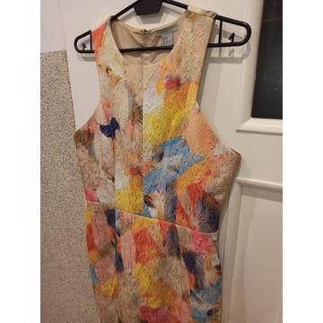 Sukienka kolorowa H&M stan idealny 38