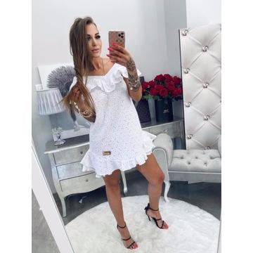 Biała sukienka bawełniana Lola Bianka S/M