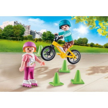PLAYMOBIL Dzieci na rolkach i rowerze (70061)