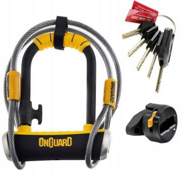 ZAPIĘCIE ONGUARD PitBull MINI 8008 U-LOCK +LINKA