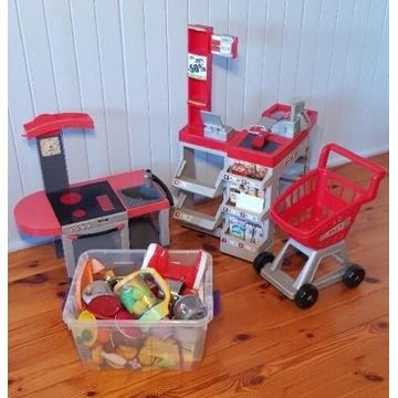 Kuchnia supermarket SMOBY dla dzieci z gratisami