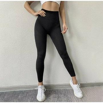 Leginsy sportowe fitness, wysoki stanS/M/L