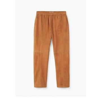 Spodnie skórzane ,kozia skóra MangoXS 34