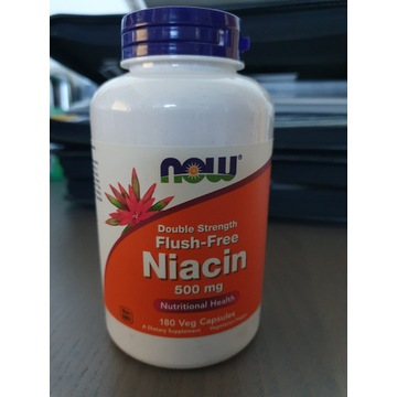 Niacyna B3 500mg Flush Free Niacin NOW FOODS