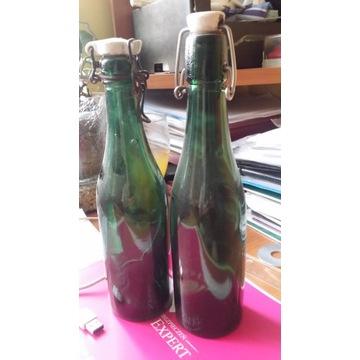 2 butelki gładkie znalezione w Schneidemuhl