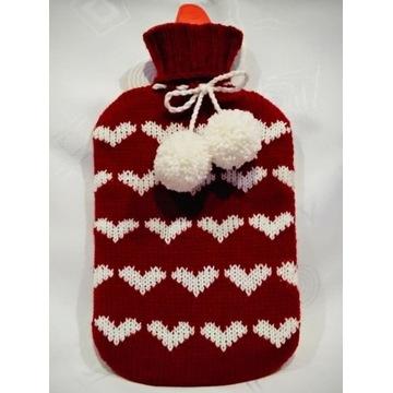 Termofor w sweterku duży 2 l prezent Dzień Kobiet