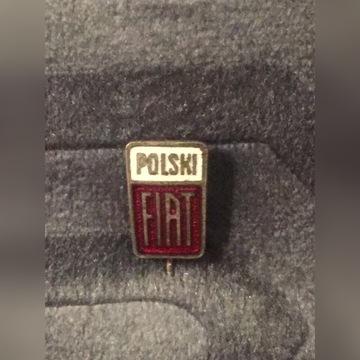 Polski Fiat 125 126p przypinka znaczek 70 lata PRL