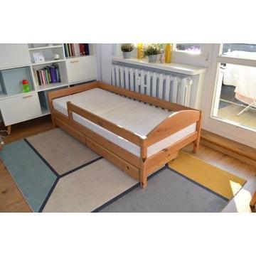 Łóżko sosnowe + szuflady