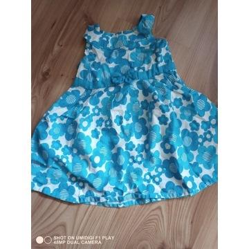 Sukienka letnia dziewczęca 80 cm
