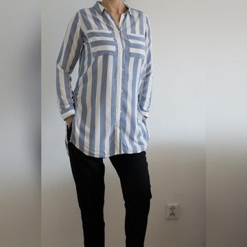 H&M długa koszula w paski r 36/38