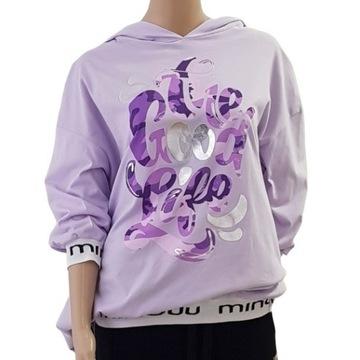 Bawełniana bluza fioletowa The good life liliowa