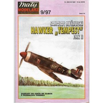 Mały Modelarz 9 1997 HAWKER TEMPEST model 1:33