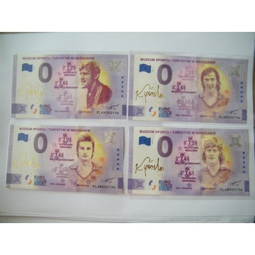 4x 0 euro Orły Górskiego te same niskie numery 196
