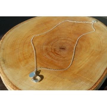 naszyjnik srebny,kryształ górski,celebrytka,ag925
