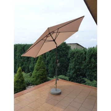 Parasol ogrodowy duży składany łamany 300cm beżowy