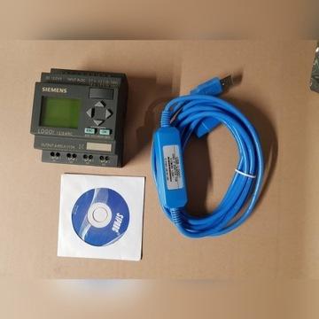 Sterownik PLC Siemens Logo 12/24RC + nowy kabel
