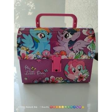 Kuferek teczka z rączką My Little Pony,śniadaniówk