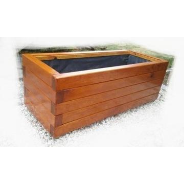 Doniczka drewniana na taras 100x40x40