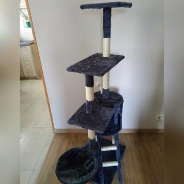 Drapak dla kota, wieża, z domkiem wysokość 140cm