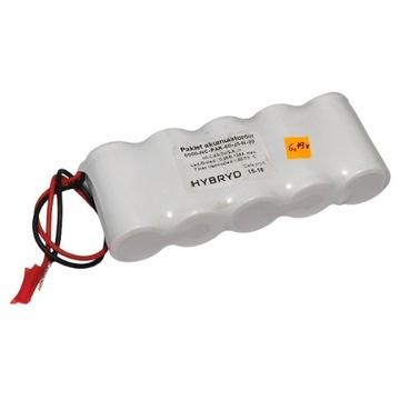 Pakiet akumulatorów Ni Cd 6V 2,5Ah HYBRY [M1-P57]