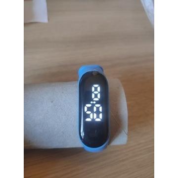Dziecięce zegarki cyfrowy LED niebieski prezent