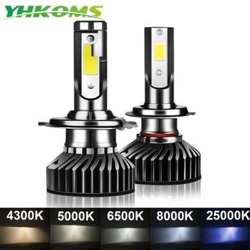 Żarówki 2x LED H7 80W 4300K 14000LM YHKOMS