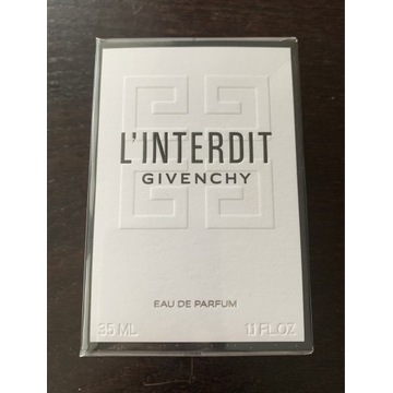 L'INTERDIT GIVENCHY EDP perfumy 35ml nowe folia
