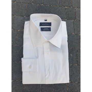 koszula biała męska- 100% bawełny, wysoka jakość.