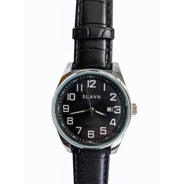 Zegarek męski z datą Slava 10011 Czarny