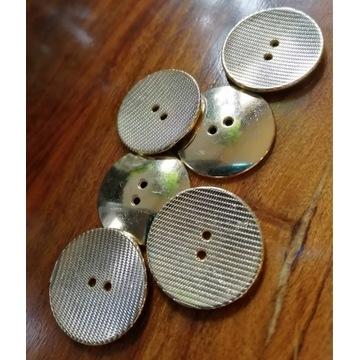 Metalowe guziki złote 20 mm